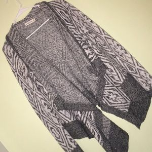 Gray and white soft cardigan